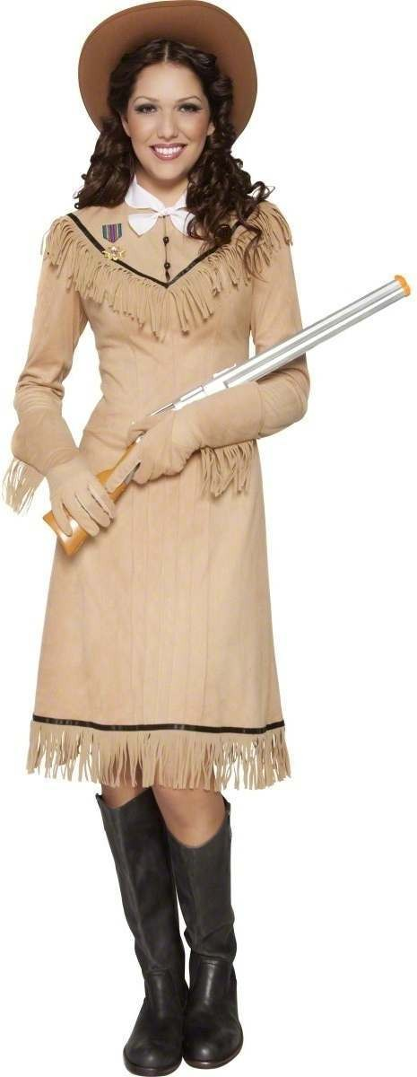 Western Authentic Annie Oakley Fancy Dress Costume (Cops/Robbers)