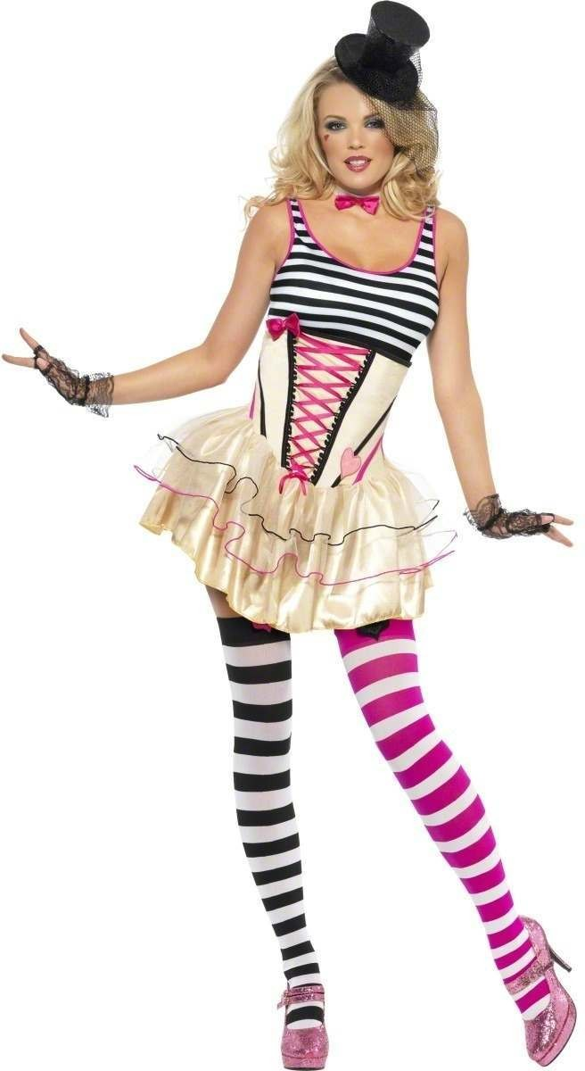 Fever Pop Clown Fancy Dress Costume Ladies (Clowns)