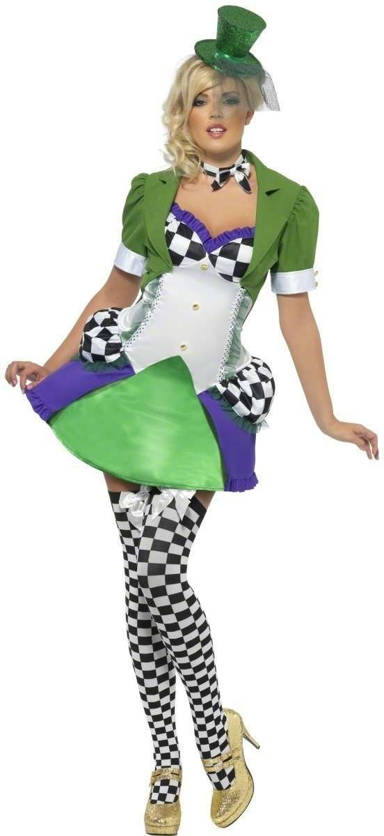 Fever Miss Hatter Fancy Dress Costume Ladies (Fairy Tales)