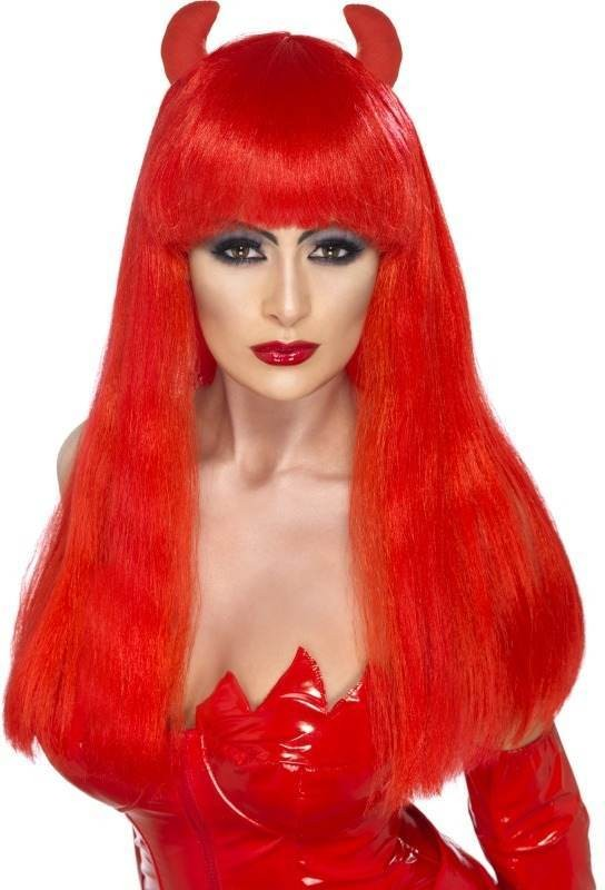 Devilette Wig (Halloween Wigs) - Red