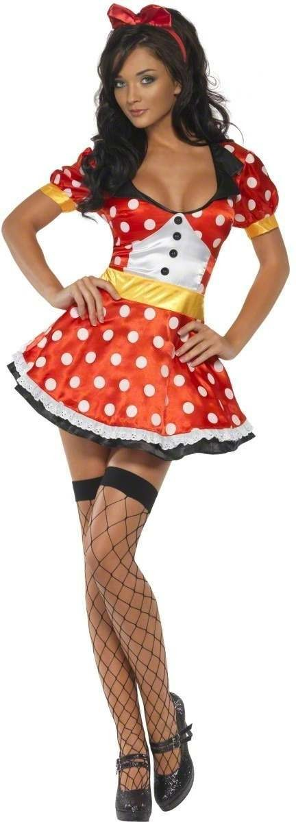 Fever Miss Mouse Fancy Dress Costume Ladies