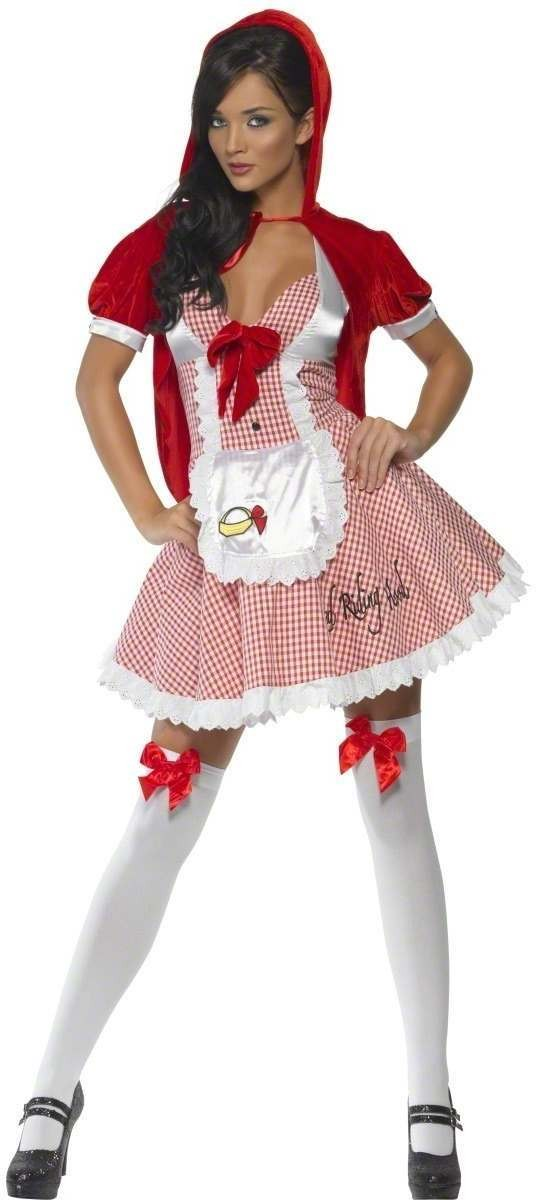 Red Riding Hood Dress Fancy Dress Size 8-10 S Ladies