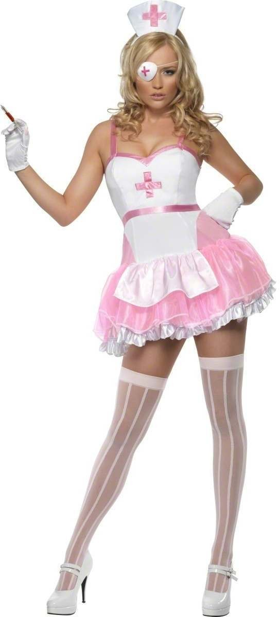Fever Pin Up Nurse Fancy Dress Costume Ladies (Doctors/Nurses)