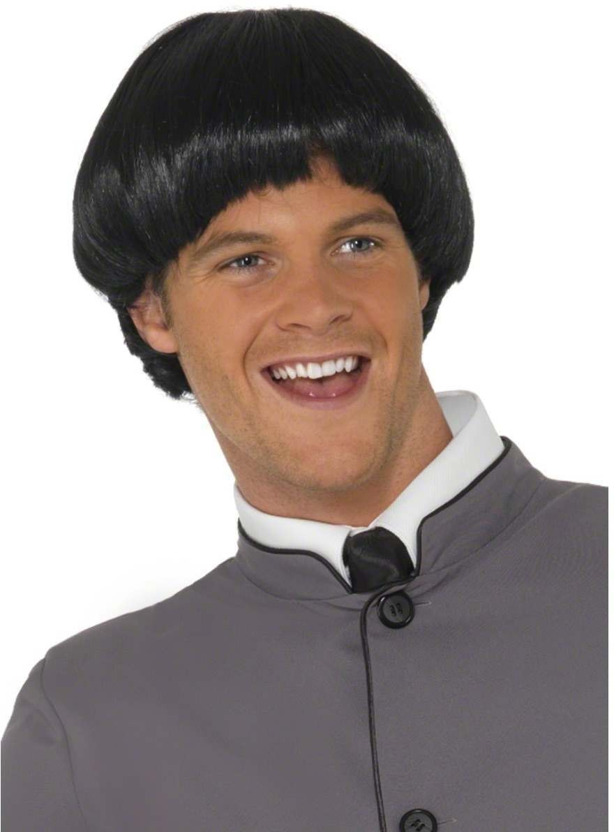 60S Bowl Wig - Fancy Dress Mens (1960S) - Black