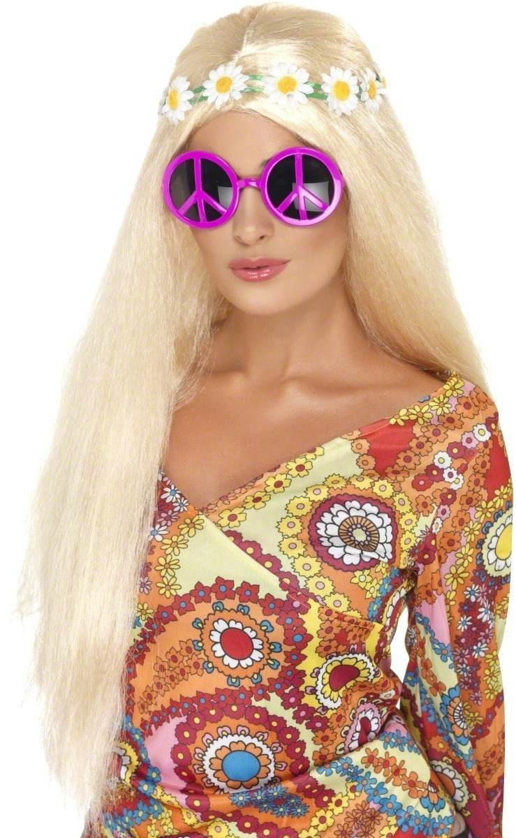 Peace Sign Sunglasses Fancy Dress