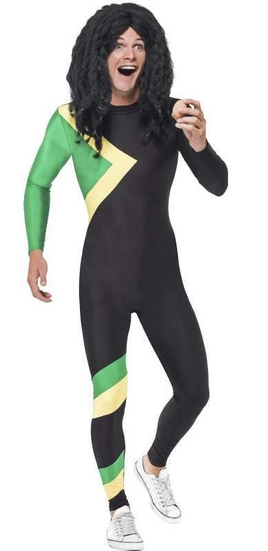 Men'S Jamaican Rasta Music Hero Fancy Dress Costume