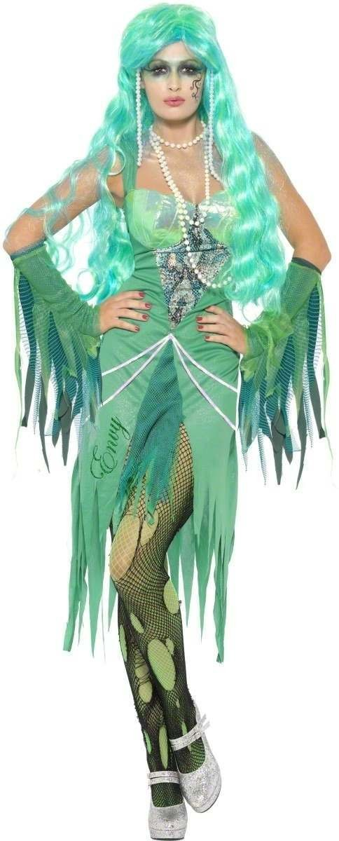 Seven Deadly Sins Envy Fancy Dress Costume Ladies (Halloween)