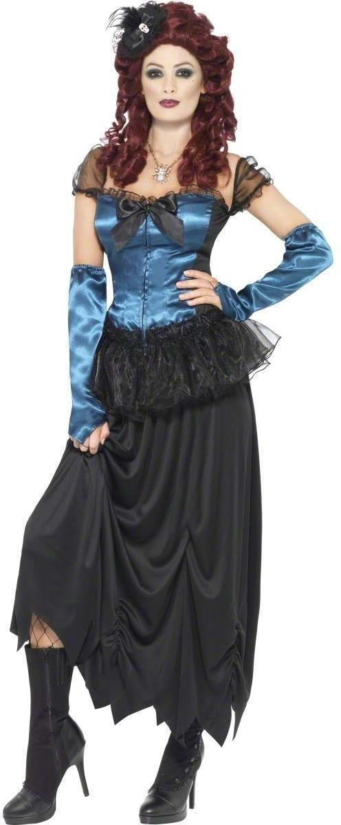 Vaudeville Vixen Fancy Dress Costume Ladies (Halloween)