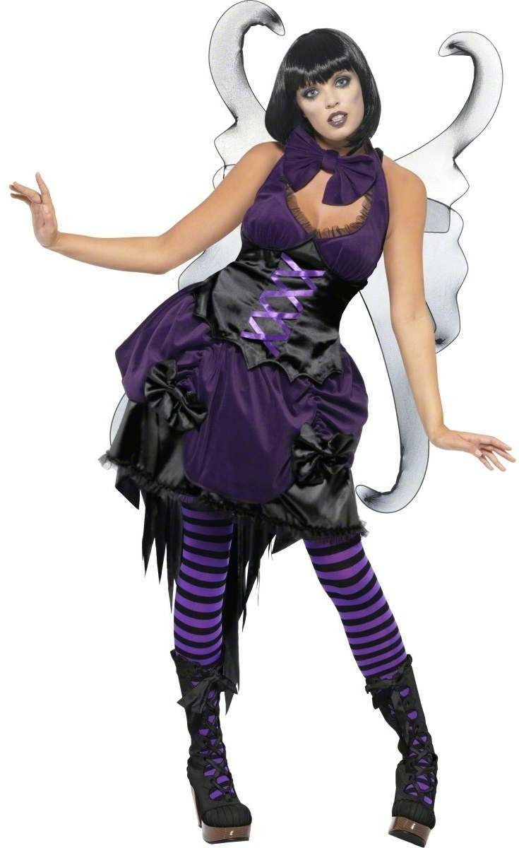 Gothic Pixie Fancy Dress Costume Ladies (Fairy Tales)