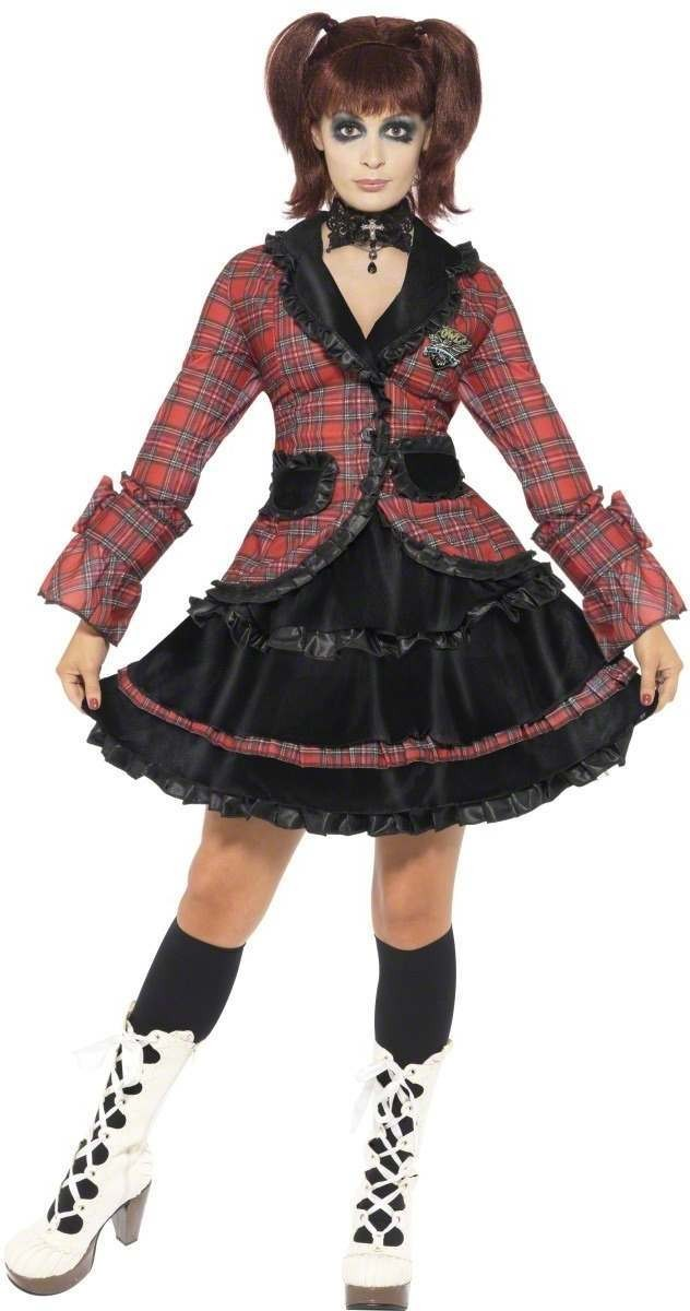 Gothic Lolita Schoolgirl Fancy Dress Costume Ladies (School)