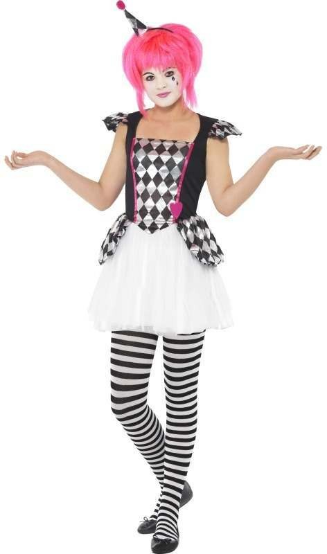 Pierrot Clown , Child Fancy Dress Costume