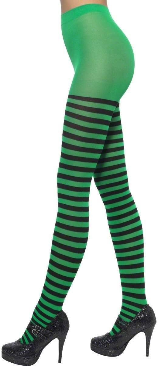 Striped Tights Fancy Dress Ladies