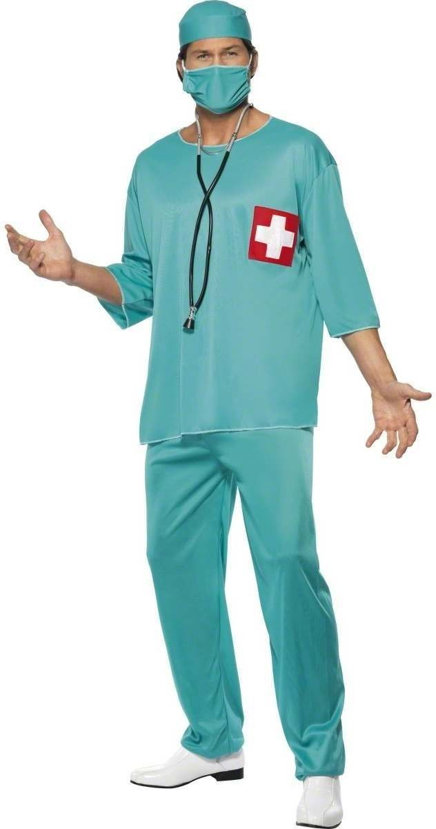 Surgeon Fancy Dress Costume Mens Doctors Nurses