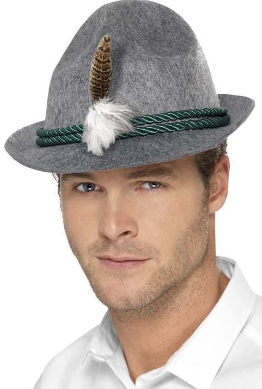 Mens German/Bavarian Trenker Hat Fancy Dress Accessory