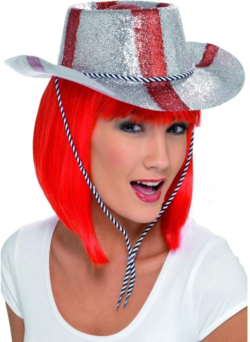 Cowboy Glitter Hat - Fancy Dress (Cowboys/Native Americans)