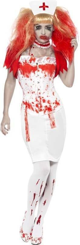 Blood Drip Nurse Fancy Dress Costume