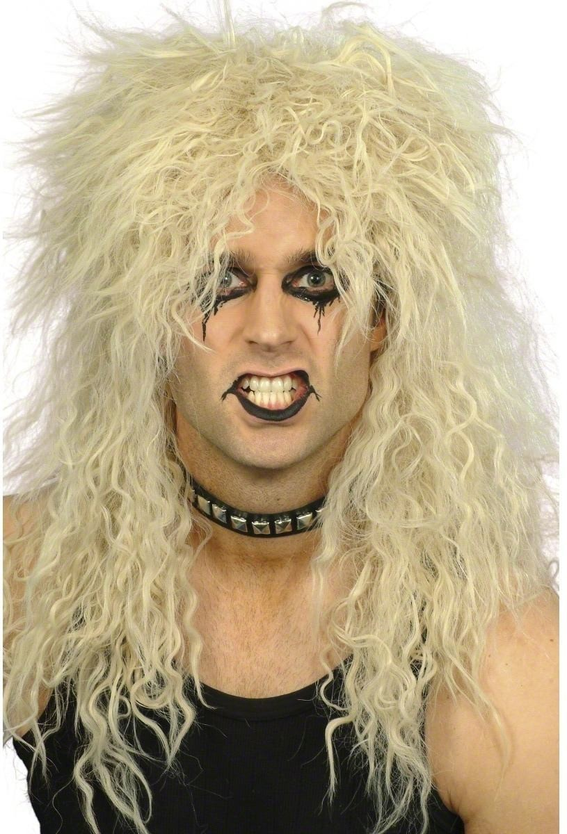 Hard Rocker Wig - Fancy Dress Mens (1980S) - Blond