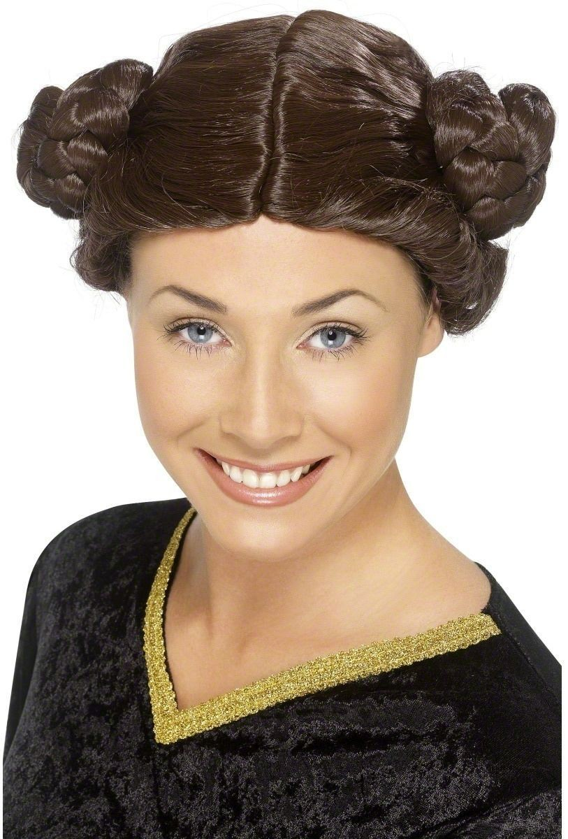 Princess Wig - Fancy Dress Ladies (Royalty) Brown
