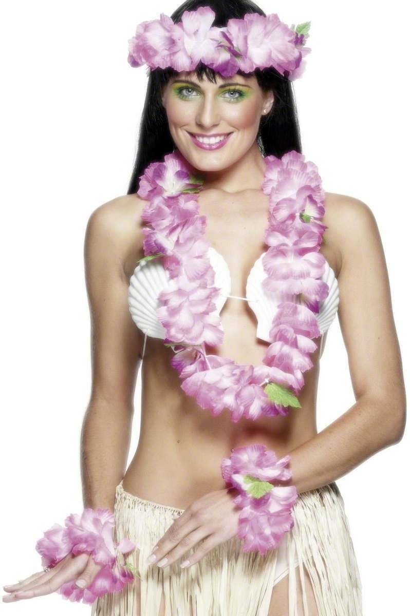 Hawaiian Set Pink - Fancy Dress Ladies (Hawaiian)
