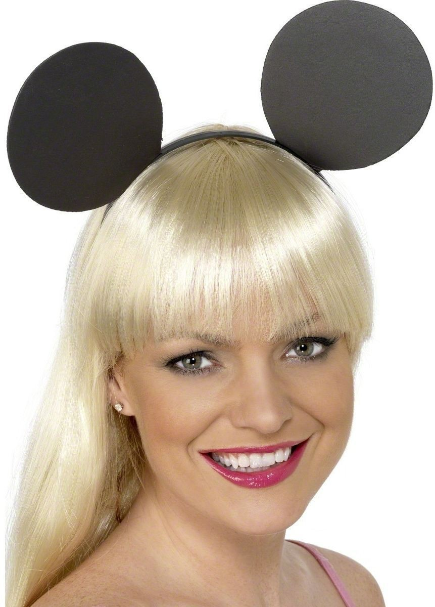 Mouse Ears On Headband - Fancy Dress (Animals)