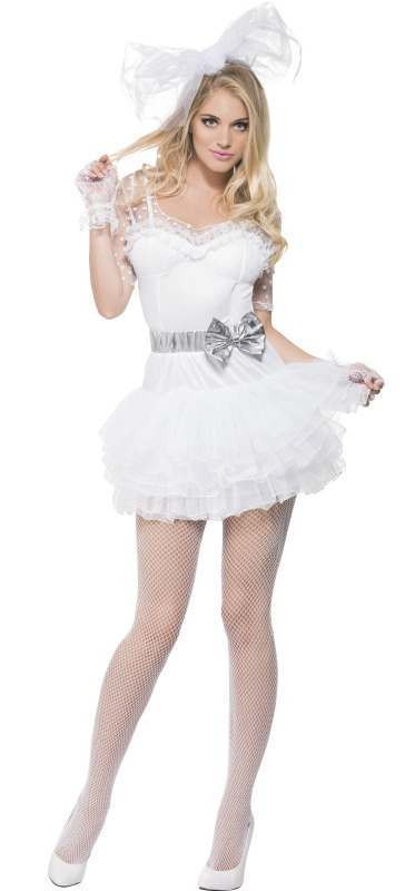 Ladies Fever 80'S Pop Chick Fancy Dress Costume