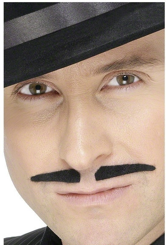 Black Spiv Tash - Fancy Dress Mens