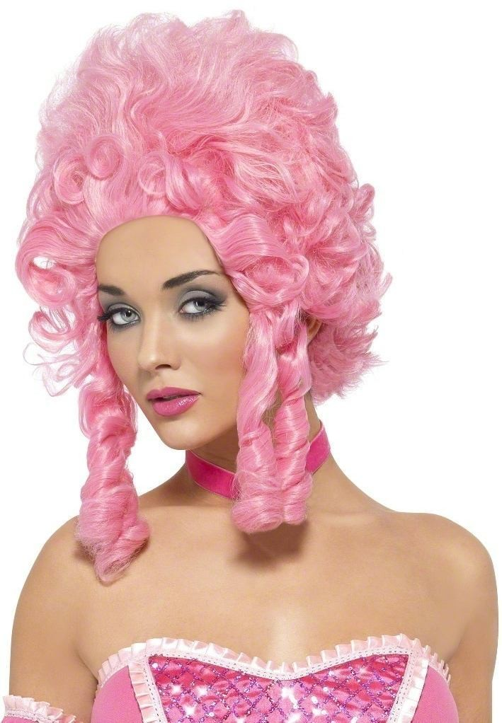 Baroque Beauty Wig Fancy Dress Ladies - Pink