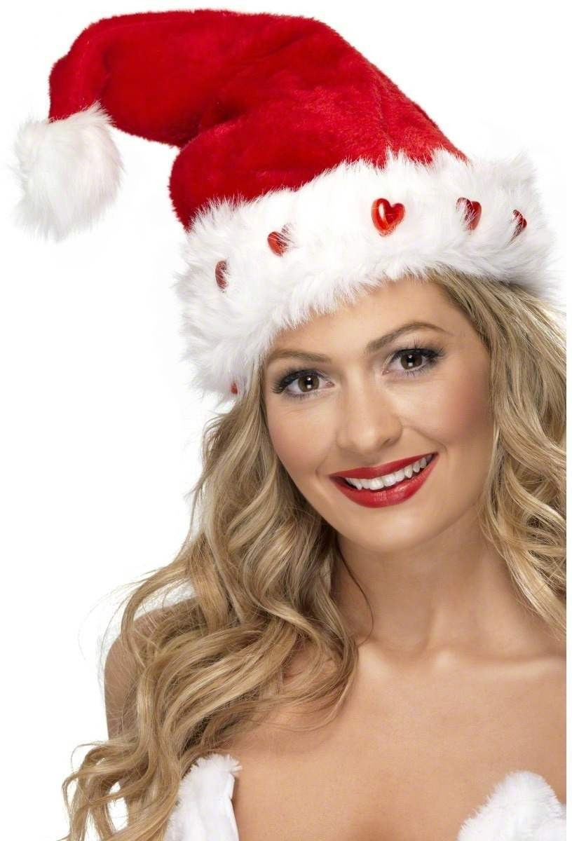 Light Up Santa Hat - Fancy Dress (Christmas)