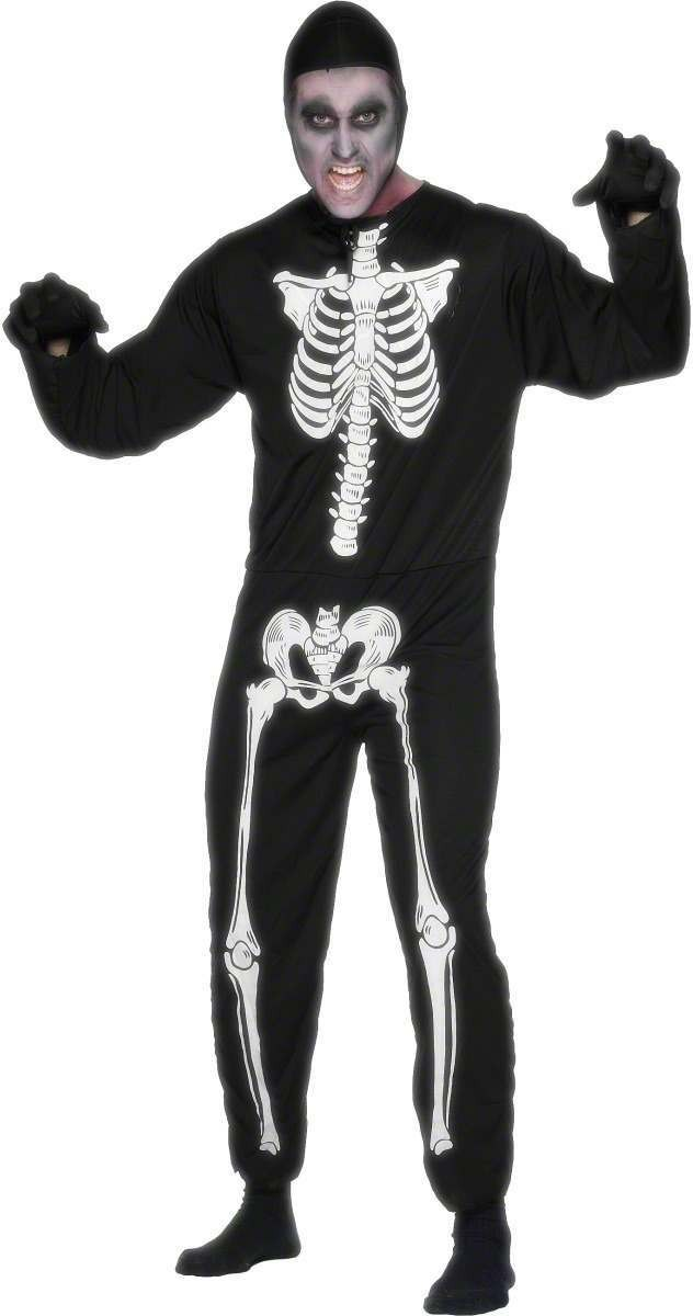 Skeleton Fancy Dress Costume Mens (Halloween)