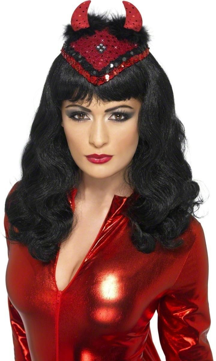 Demonic Dita De Vil Skull Cap Fancy Dress Ladies (Halloween)