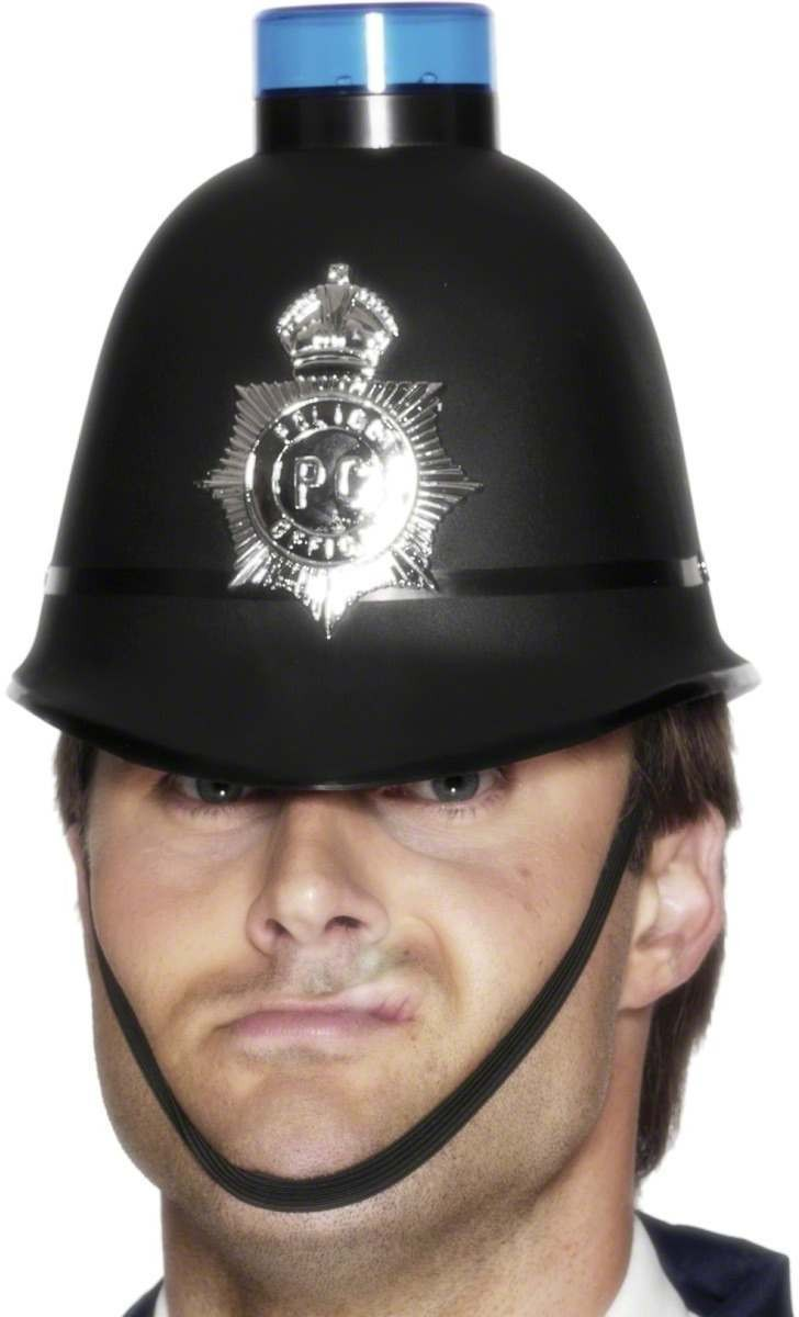 Police Helmet - Fancy Dress Mens (Cops/Robbers)