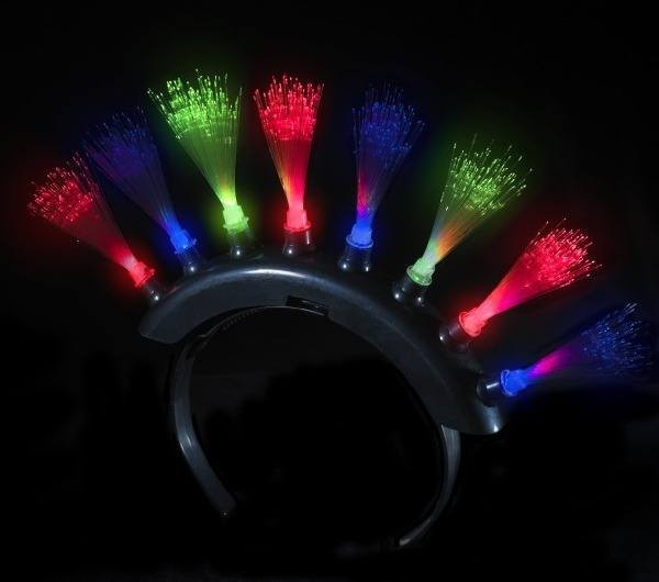 Funky Punk Light Up Mohawk Fiber Optic (Fancy Dress)