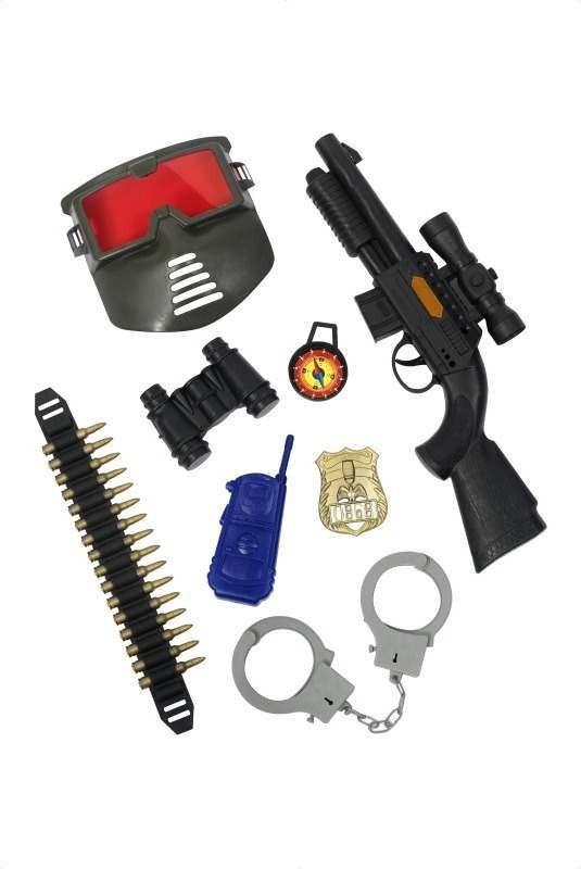 Police Gun Set (Cops/Robbers Fancy Dress Guns)