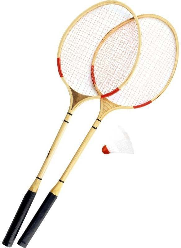 Retro Badminton Wooden Racket Set (Fancy Dress)