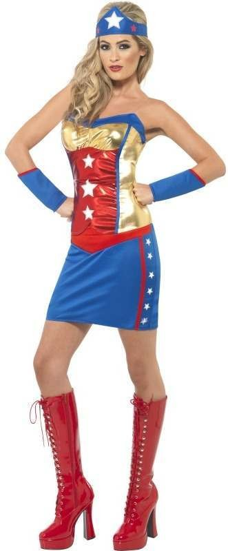 Fever Super Hot Hero Fancy Dress Costume