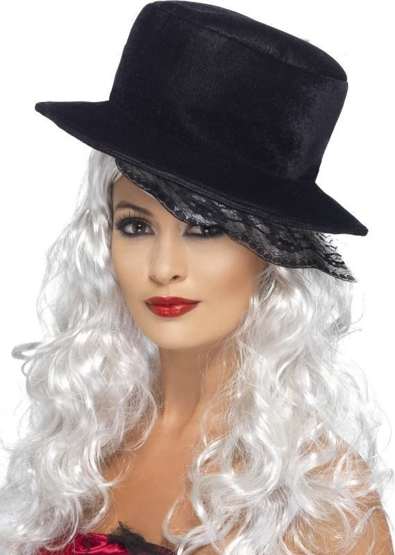 Top Hat With Scallop Lace (Halloween Hats)