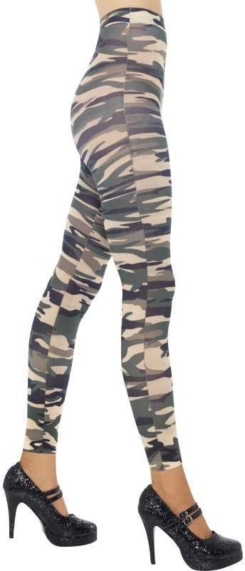 Footless Camouflage Tights (Sexy Fancy Dress Tights)
