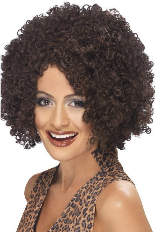 Scary Power Wig (Music Fancy Dress Wigs) - Brown
