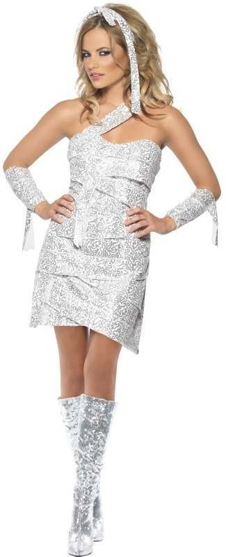 Fever Mummy Bedazzle Fancy Dress Costume