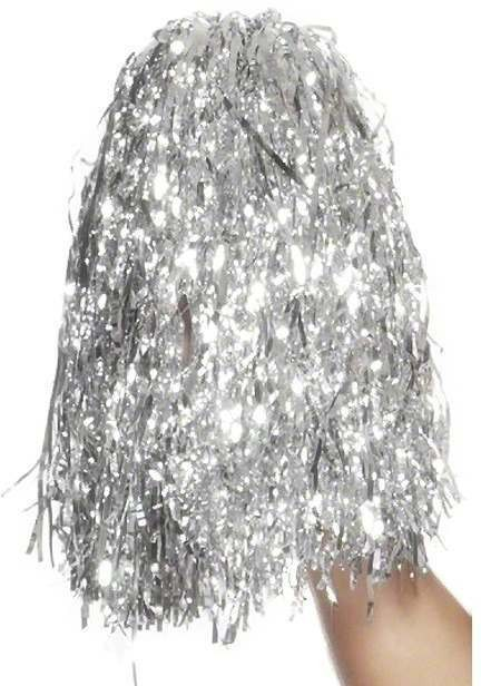 Pom Poms Metallic Silver - Fancy Dress Ladies