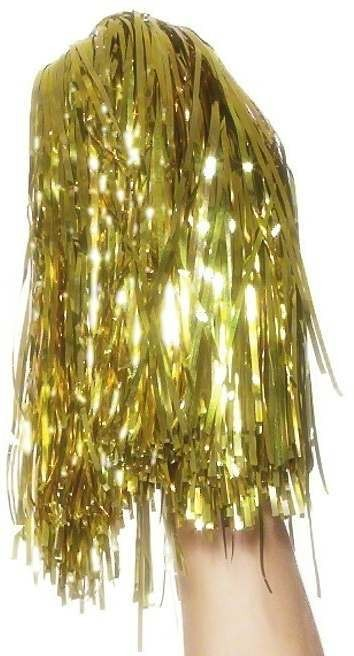 Pom Poms Metallic Gold - Fancy Dress Ladies