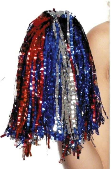 Pom Poms Metallic Multicoloured - Fancy Dress Ladies