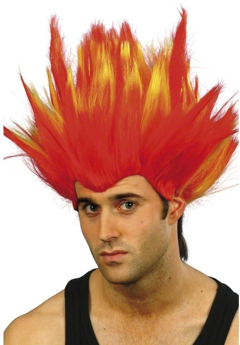 Red Firestarter Wig - Fancy Dress Mens