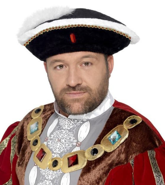 Mens Henry VIII Hat Fancy Dress Accessory