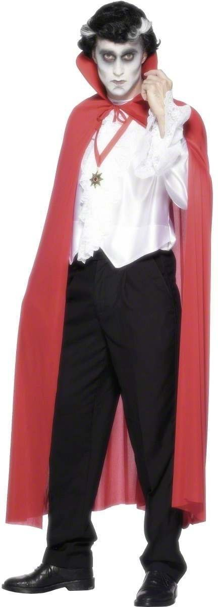Cape Red With Collar - Fancy Dress (Halloween)