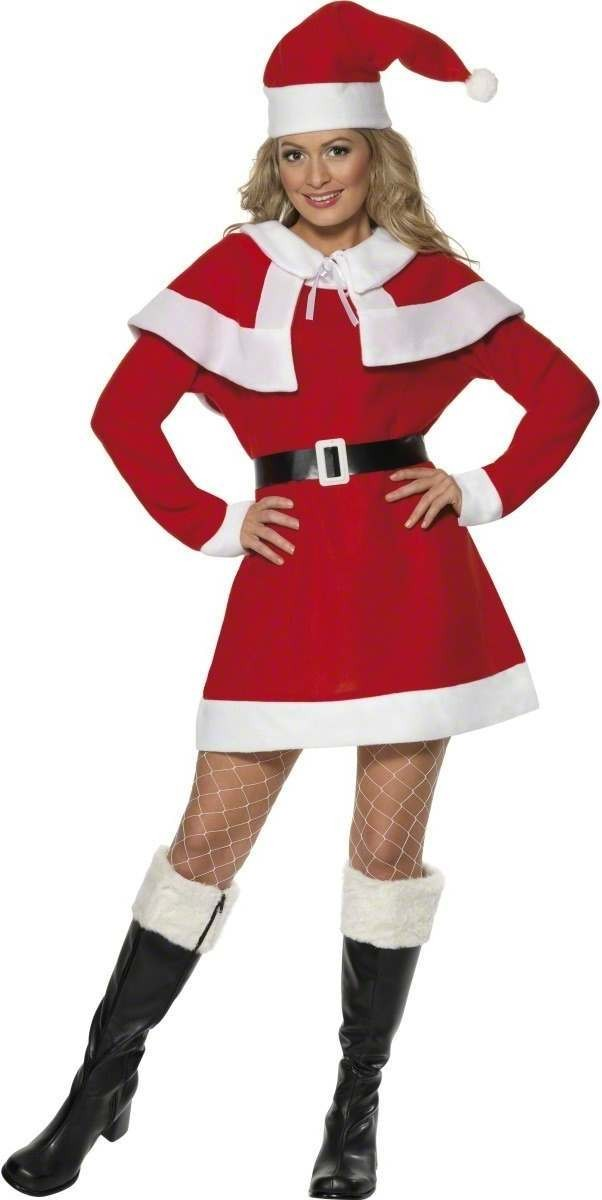 Miss Santa Fancy Dress Costume Ladies (Christmas)