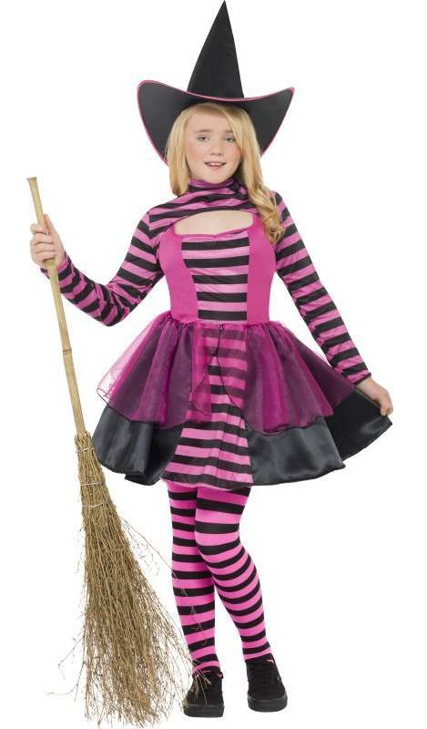 Girls Dark Fairy/Witch Halloween Fancy Dress Costume