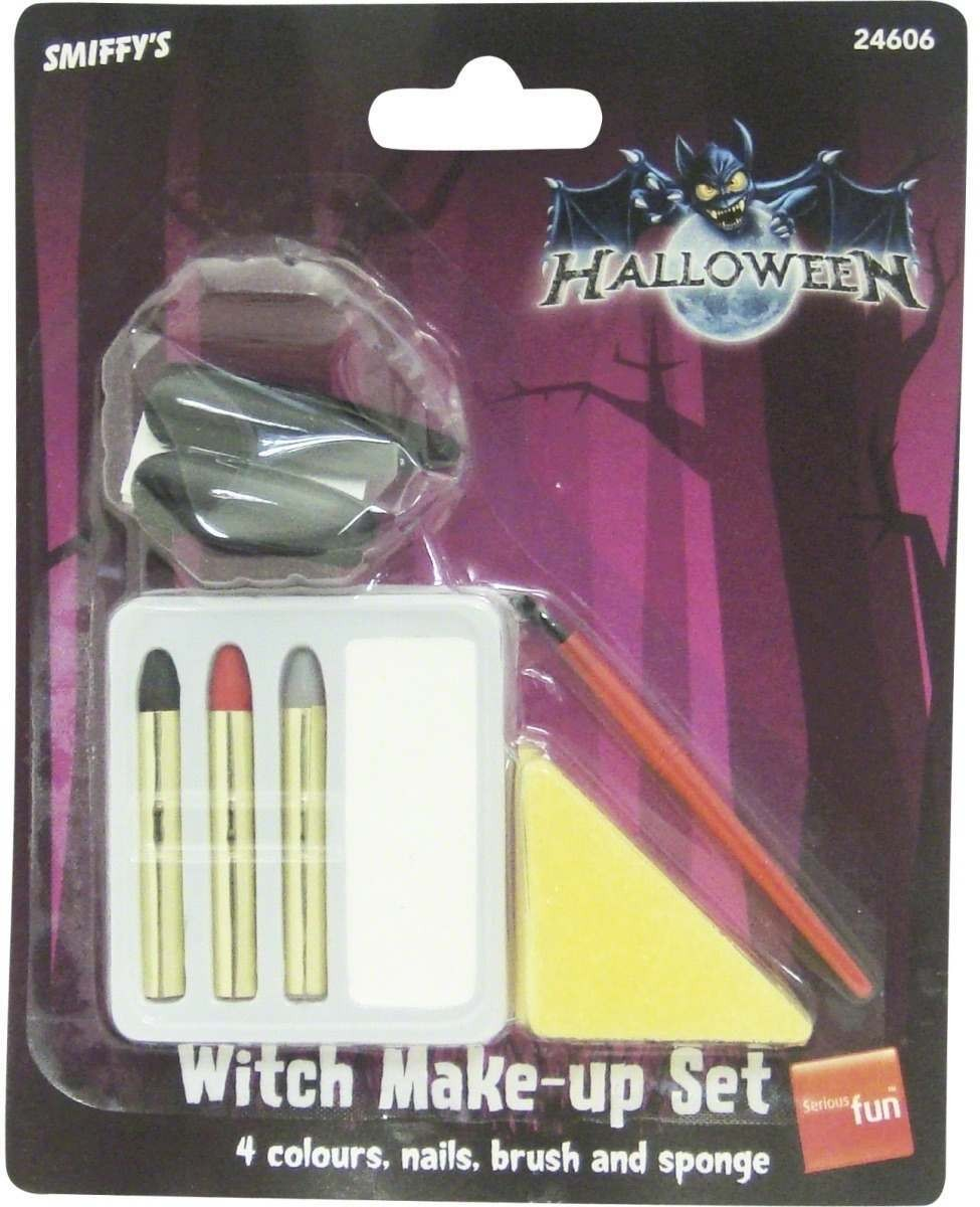 Witch Make Up And Nails - Fancy Dress Ladies (Halloween)