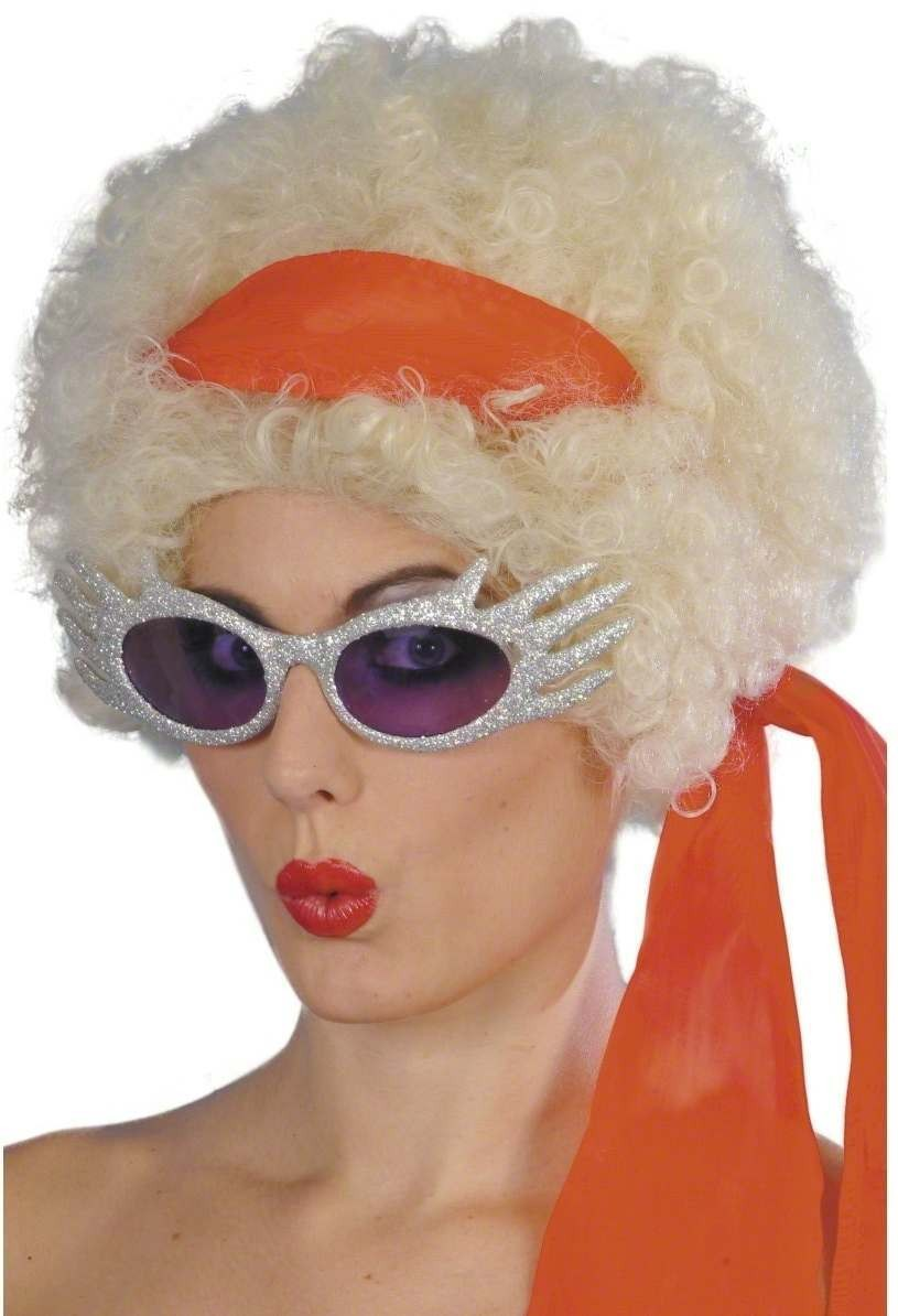 Glitter Glam Rocker Specs - Fancy Dress Mens (1950S)