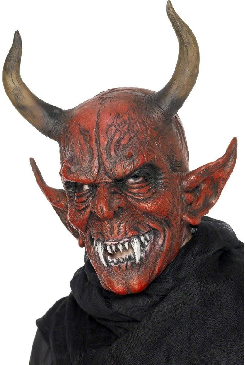 Devil Demon Mask - Fancy Dress Mens (Halloween)